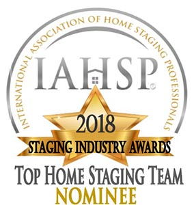 "Award image with words ""Top Home Staging Team Nominee"""